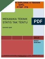 BAHAN AJAR MEKANIKA TEKNIK STATIS TAK TENTU PROGRAM D4   18 SEPT 2013.doc