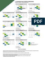 2015 Student Payroll Calendar