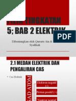 Fizik Bab 2, 2.1 Medan Elektrik Dan Pengaliran Cas