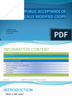 Public Acceptance of Genetically Modified Crops
