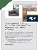 Analisis Primario Piña y Guayaba