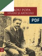 Radu Popa. Studii și Articole I.