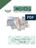 Migracion de Mexicanos Hacia Estados Unidos