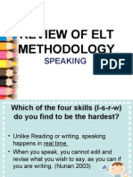 Review of Elt Methodology Speaking