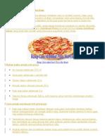 Resep Cara Membuat Pizza Hut Enak