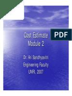Cost Estimate-S1 Module 2
