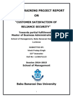 CUSTOMER SATISFACTION OF RELIANCE SECURITY.docx