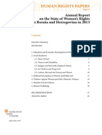 Annual Report on Women Rights, 2013