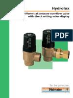 Differential Pressure Overflow Valve
