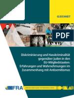 Fra 2013 Discrimination Hate Crime Against Jews Eu Member States De