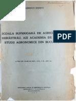 Scoala Superioara de Agricultura - Ion Ionescu Sisesti