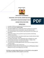 Bursary Application Form 2014-2015