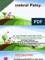 Cerebral Palsy by Dr.jaya Shanker
