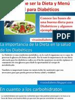 Dieta y Menu Para Diabeticos