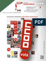 Elecciones Sindicales Universidad de Extremadura 2015