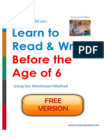 Your Child Can Read And Write By Age 6 Using the Montessori Method