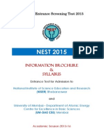 NEST 2015 Brochure Syllabus