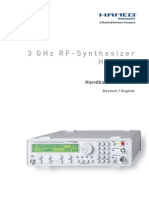 Hameg RF synthetizer
