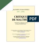 Critique de Malthus Marx&Engel