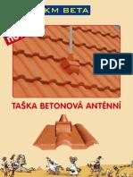 KMB - leták TAŠKA BETONOVÁ ANTÉNNÍ
