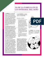 Influencia de La Fasdmilia en El Desarrollo Integral Del Nino