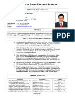 shiva resume india