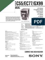 HCD-EC55_EC77_GX99 Manual de Servicio