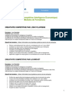 Liste des formations en intelligence économique et compétitive de Marseille Innovation