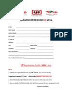Regestration Form for International Job Fair 2015