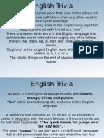 English Trivia