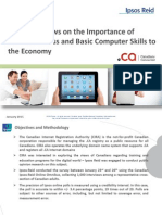 Canadian Views on the Importance of Internet Access and Basic Computer Skills to the Economy