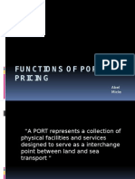 Functions of Port Pricing