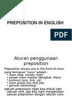 Preposition in English