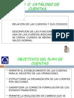 Plan o Catálogo de Cuentas