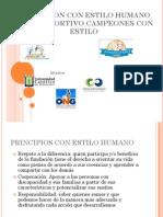 presentación formal fundación con estilo humano
