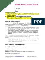 Materi Bahasa Inggris 2 (Passive Voice & Factual Report Text) Tugas 4,5,6 & Uh2