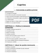 Practici Anticoncurentiale Si Politica Privind Concurenta