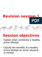 Healthy active lifestyle, reasons for participation, influences and roles within sport