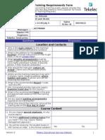 Tekelec Training Requirements Form.doc