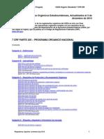Reglamentos Orgánicos Estadounidenses - Actualizados Al 3 de Diciembre de 2013