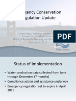 Emergency Conservation Regulation Update