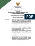 PermenPU No 21 2010 Tentang Organisasi Dan Tata Kerja Unit Pelaksana Teknis Kementerian Pekerjaan Umum BatangTubuh
