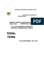 Temario de Criminologia Clinica