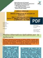 Tema 7. Medios Alternativos Aplicables Por La Defensoria Del Pueblo