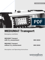 Weinmann Medumat Transport Emergency Ventilator - User Manual
