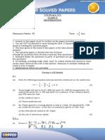 ICSE2010 Math Questions0