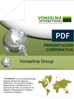 Presentación Corporativa Vonselma International 2015