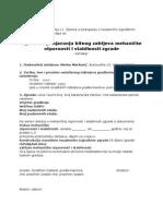 Izjava o Ispunjavanju Bitnog Zahtjeva MOIS Zgrade [2013]