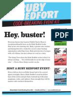 Ruby Redfort Codebreaking Activity Kit