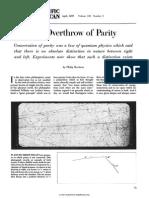 Scientific American Volume 196 Issue 4 1957 [Doi 10.1038_scientificamerican0457-45] Morrison, Philip -- The Overthrow of Parity
